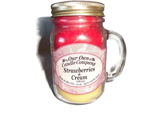 Erdbeere Wachs (Our Own Candle Company große Strawberries & Cream)