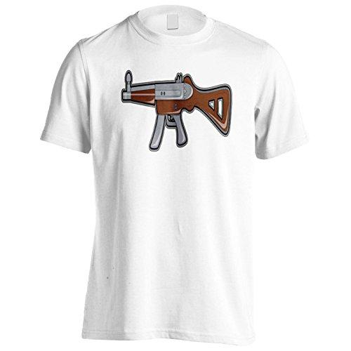 Regalo divertente automatico della pistola della pistola Uomo T-shirt f656m White