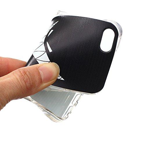 iPhone SE Hülle,iPhone 5 TPU Case, iPhone 5S Silikon Cover - Felfy Ultra Slim Klare Transparent Gel Klar Crystal Durchsichtig Flexible Elastisch Biegsam aussehend Eule Muster Schutzhülle für Apple iPh Braun Bär