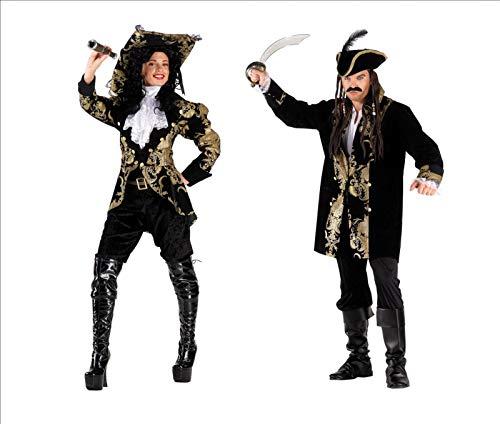 Vestito Carnevale Deluxe Adulto Coppia Pirati dei Sette Mari Deluxe Taglia Unica