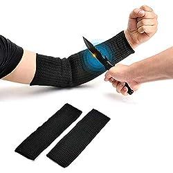 Yosoo Paire de manchettes de protection Kevlar anti-coupures combustion et abrasion Noir Product