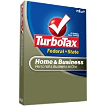 Intuit Turbotax Home & Business Federal + State + Efile 2008 [Old Version]