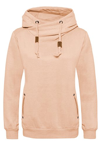 SUBLEVEL Damen Sweathoodie I Sportlich-Eleganter Kapuzenpullover mit hohem Baumwollanteil light orange L (Orange Kapuzen-fleece)