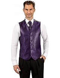 Gilet de Costume Homme violet 5 boutons 2 poches