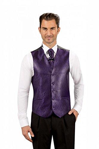 Gilet de Costume Homme violet 5 boutons 2 poches Violet