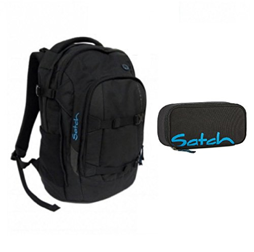 Satch Pack - Schulrucksack + Schlamperbox - Black Bounce