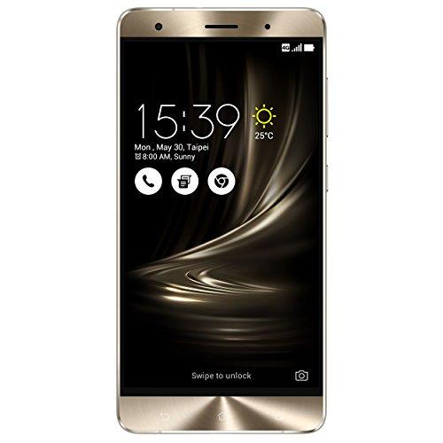 "ASUS ZS570KL-2J004WW Zenfone 3 Deluxe - Smartphone de 5.7"" (WiFi, grabación Video 4K, RAM de 6 GB, memoria interna de 64 GB, cámara de 23 Mp, Android 6.0), plata glaciar"
