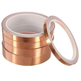 TuToy 10M Adhésif Conducteur Feuille De Cuivre Ruban Simple Face Cuivre Slug Roll Tape Largeur 6/10/12/15/20Mm - 6Mm