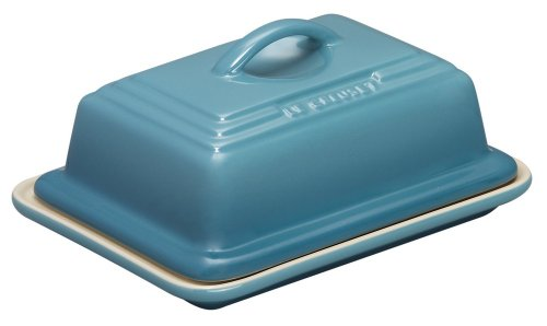 Le Creuset Stoneware - Recipiente para mantequilla, color azul claro