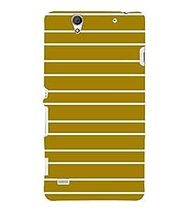 For Sony Xperia C4 Dual :: Sony Xperia C4 Dual E5333 E5343 E5363 stripes pattern ( stripes pattern, stripes, pattern, Khaki stripes ) Printed Designer Back Case Cover By TAKKLOO