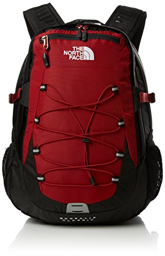 The North Face Borealis Mochila, Negro/Rojo, Talla Única