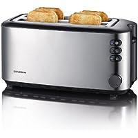 Severin AT 2509 Automatik-Toaster (1400 Watt, bis zu 4 Brotscheiben) edelstahl