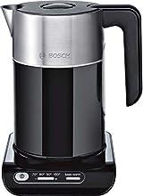 Bosch TWK8613P Bollitore Styline (2400 W, Selezione temperatura, Spegnimento automatico, Mantenimento funzione caldo, Protezione surriscaldamento, Capacità 1,5 L) Nero