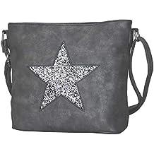 7dc2056da2d0b PiriModa Damen Luxus Stern Handtasche Schultasche Clutch TOP TREND  Tragetasche