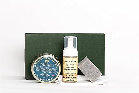 COLOURLOCK Produit nettoyant pour cuir & cire (éléphant en cuir Preserver) Kit-pour meubles, sièges de voiture, Sacs à main, vestes et accessoires