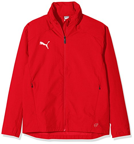 PUMA Kinder Liga Training Rain Jacket, Red White, 128
