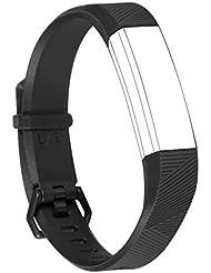 """Para Fitbit alta HR y bandas de alta, digihero ajustable suave silicona deportes correas accesorios de repuesto para Fitbit alta tasa de corazón/Fitbit alta, negro, Small(5.5""""-6.7"""")"""