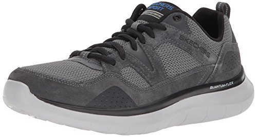 Skechers Herren Quantum-Flex-Country Walker Sneaker, Grau (Charcoal/Black), 40 EU (Walker Schuhe)