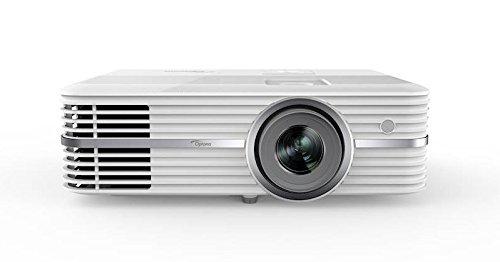 Optoma UHD40 4K DLP Projektor (UHD, 2400 Lumen, 500.000:1 Kontrast, Zoom 1,3x, 2x HDMI, 1x VGA) weiß -