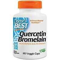 Doctor's Best | Quercetin Bromelain | 180 vegane Kapseln | glutenfrei | diätisch preisvergleich bei billige-tabletten.eu