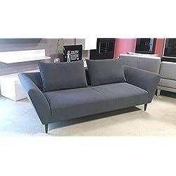 Sofa Freistil 176 von Rolf Benz Einzelsofa in grauem Stoff mit Kissen Breite 220 cm