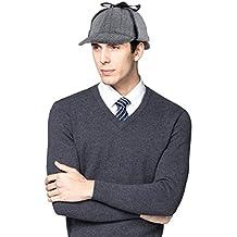 3755e6bdd73 EINSKEY Sherlock Holmes Mütze Kinder Erwachsene Spiel Cosplay Detective  Deerstalker Hut für Halloween