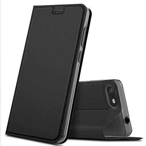 Wiko Tommy 3 Hülle, GeeMai Premium Flip Case Tasche Cover Hüllen mit Magnetverschluss [Standfunktion] Schutzhülle Handyhülle für Wiko Tommy 3 Smartphone, Schwarz