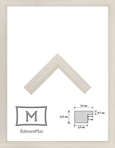 RahmenMax Holz Werkstoff-Bilderrahmen Kalmar. Größenauswahl. Breite und Stabile Leiste. Jetzt: 80 x 110 cm, Farbe: Ahorn Dekor mit 2 mm Acrylglas Antireflex. -