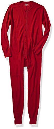 Hanes X-Temp Herren Thermo-Overall Rot
