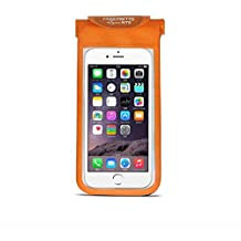 New arrival Bicycle cellphone Bag Tube Cell Phone Bike Bag Waterproof For Accessories Holder iPhone 6 Plus 5s Samsung with 4.7/5.5 Inch Touch Screen Case (Deep Orange)