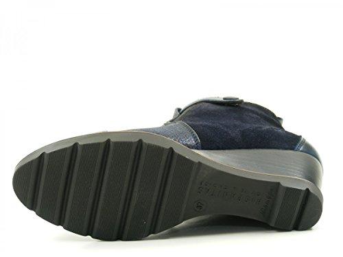 Hispanitas Amberes HI63650 Schuhe Damen Keil Stiefeletten Ankle Boots Blau
