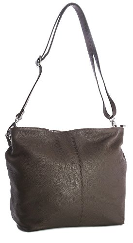 Big Handbag Shop, Borsa a spalla donna One Marrone (Dark Taupe)