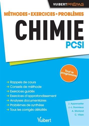 Chimie PCSI - Méthodes. Exercices. Problèmes