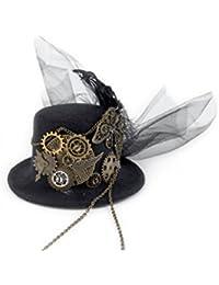 dream cosplay Gótico Mujer Sombrero Steampunk Cordón Pinza para el Cabello