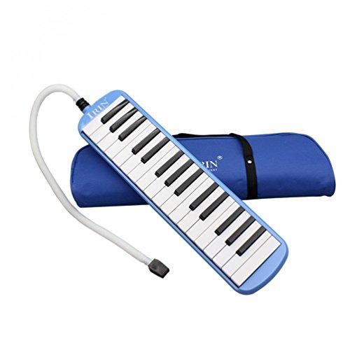 ALLCACA 32 Melodica Klaviertasten Musik Instrument mit Tragetasche, perfekt für Einsteiger und Musikliebhaber, blau
