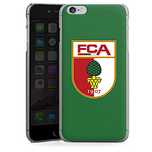Apple iPhone X Silikon Hülle Case Schutzhülle FC Augsburg Fanartikel Fußball Hard Case anthrazit-klar