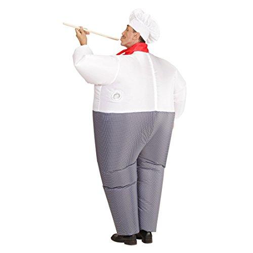 Imagen de jefe de cocina airsuit traje hinchable cocinero atuendo cocinitas para inflar outfit fiesta temática cocinero disfraz inflable ropa carnaval original alternativa