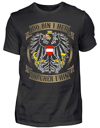 Österreich-Do Bin i her - Herren Shirt -L-Schwarz