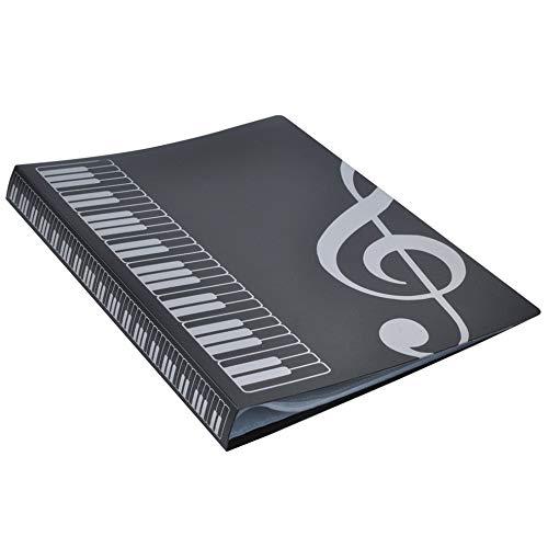 Transparent Convex Light (80 Blatt A4-Notenheftmappen Klavierauszug Band Choreinlage Ordner Musikzubehör Wasserdichtes Dateispeicherprodukt)