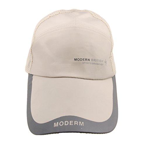 Hombres sombrero de sol protección solar demi-mesh gorra béisbol/vis