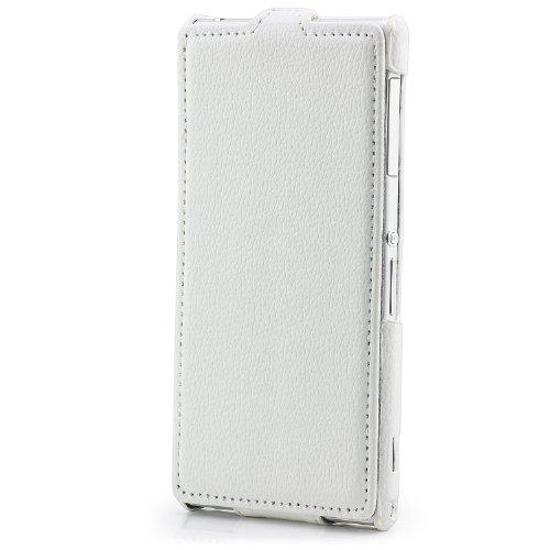 Saxonia Apple iPhone SE 5 5S Hülle Flip Tasche Case Hülle Schutzhülle Magnetverschluss Schwarz-Braun Klapp Weiß
