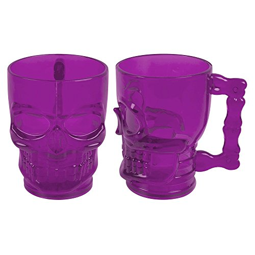 Halloween Skull Face Goblet Plastic Drinking Cup Party (Cups Plastic Halloween)