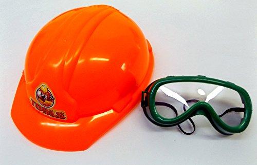 Brigamo 505 – Kinderwerkzeug Set mit funktionierender Kettensäge und Bohrhammer + Bauarbeiter Helm - 4