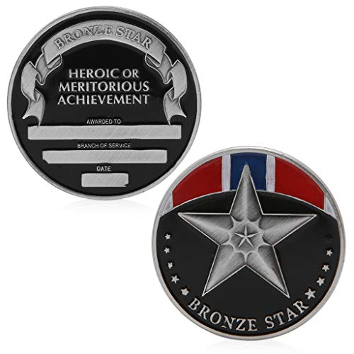 cicianco The Bronze Star Medal Commemorative Challenge Coin Token Collectible Collection Craft Decor