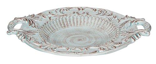 Biscottini Manele Plateau Centre de Table en céramique de Bassano L52 x PR42 x H9 cm Fabriqué en Italie