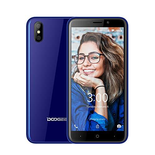 DOOGEE X50L Günstige Smartphone ohne Vertrag 4G, 2019 Billige Senioren Handy, 5,0 Zoll, Android Go (Android 8) Mobile 1GB RAM+16GB ROM Dual Nano SIM Kameras FaceID, Portable weniger als 100 Euros Blau (Senioren Android-handys Für)