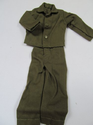 Image of Ken Action Man GI Joe Doll Clothing Outfit Ken Green Jacket & Trousers Military Style posted from London By Fat-catz