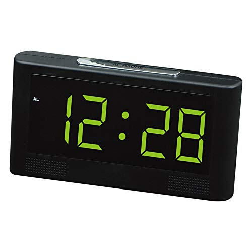 Uniqus Modern Fashion Available Select LED Colors Plug-in Oblong Alarm Clock Hotel Bank Hall Public Place Large Number Display time