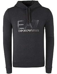 Emporio Armani EA7 Art. 6zpm44pj07z Sweat à Capuche molletonnée pour Homme  Gris Melange Made in 958737ace82