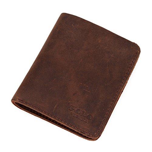 Brieftasche Für Männer Business Echtleder Geld Clip Kurze Schnalle Karte Tasche,M